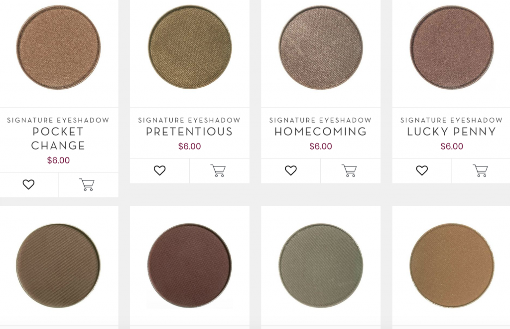Neutral eyeshadow colors